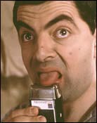 Headshot of Rowan Atkinson
